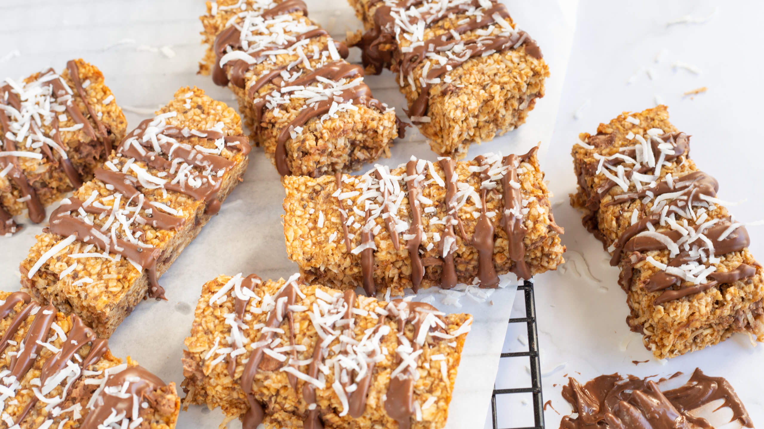 Oaty Bars Chocolate Drizzle Recipe