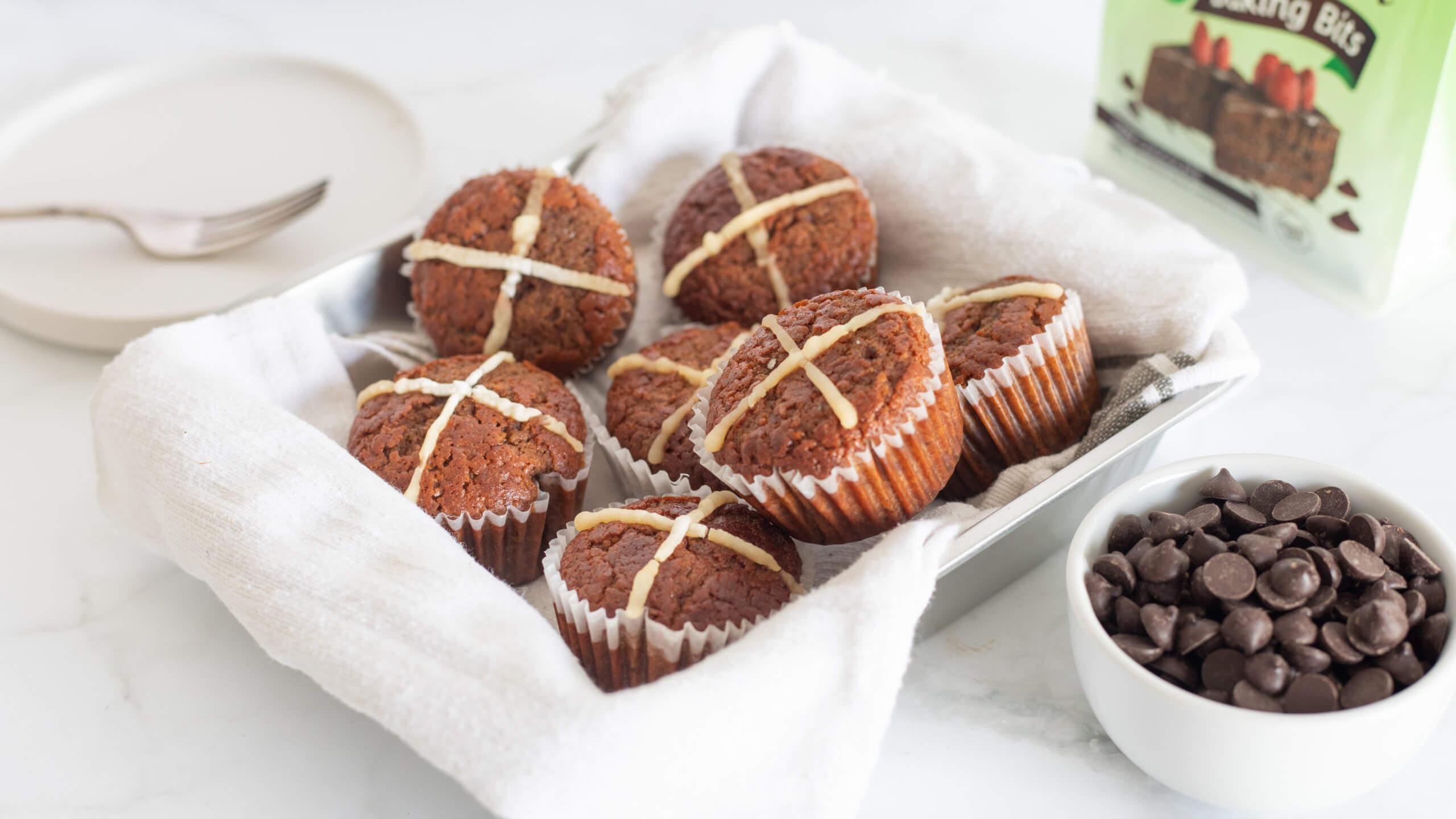 Choc Cross Muffins