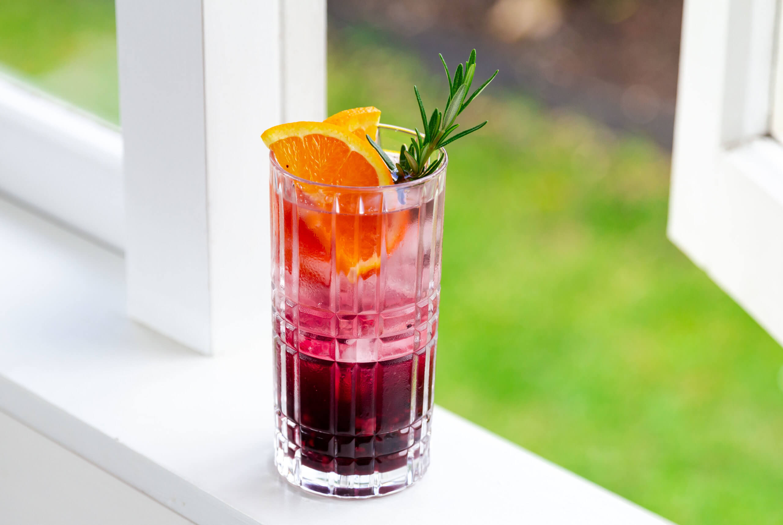 Blood Orange and Blackberry Spritz